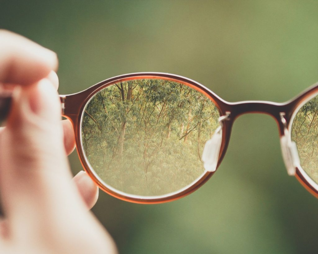 which lens are you looking through